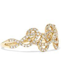 Anissa Kermiche - Tatouage 9-karat Gold Diamond Ring Gold 6 - Lyst