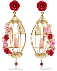 Of Rare Origin - Lovebird 18k Gold Multi-stone Earrings - Lyst