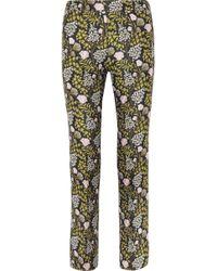 Giambattista Valli - Floral-jacquard Slim-leg Pants - Lyst