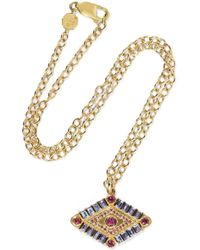 Marlo Laz - Shaman's Eye 14-karat Gold, Tanzanite And Garnet Necklace - Lyst