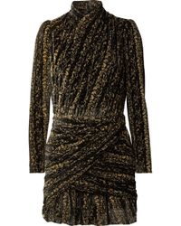 Balenciaga - Wrap-effect Devoré-velvet Mini Dress - Lyst