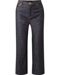 A.P.C. - Sailor Cropped High-rise Wide-leg Jeans - Lyst