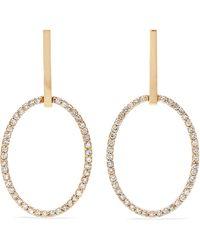 Ileana Makri - Empty Mirror 18-karat Gold Diamond Earrings - Lyst