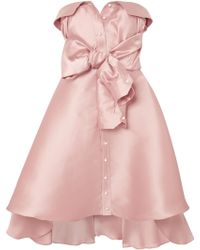 Alexis Mabille - Tie-detailed Faille Mini Dress - Lyst