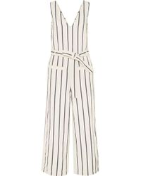 Madewell - Striped Cotton And Linen-blend Jumpsuit - Lyst
