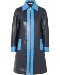Ganni - Passion Two-tone Leather Coat - Lyst