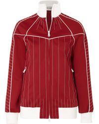 Valentino - Embroidered Satin-jersey Jacket - Lyst