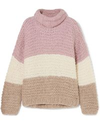 Apiece Apart - Convertible Striped Ribbed Alpaca-blend Jumper - Lyst