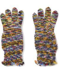 Missoni - Wool-blend Crochet-knit Gloves - Lyst