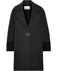 T By Alexander Wang - Oversized Two-tone Wool-blend Felt Coat - Lyst