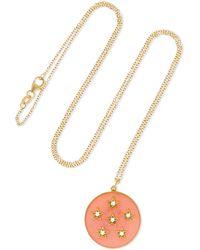 Andrea Fohrman - Full Moon 18-karat Gold, Diamond And Enamel Necklace - Lyst