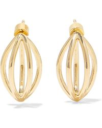 Jennifer Fisher - Small Cage Gold-plated Earrings - Lyst