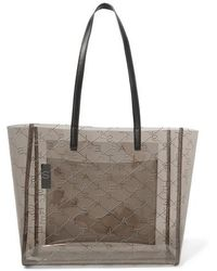 Stella McCartney - Faux Leather-trimmed Perforated Pu Tote - Lyst