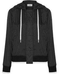 DKNY - Hooded Shell Bomber Jacket - Lyst