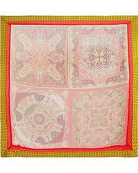 Etro - Printed Silk-chiffon Scarf - Lyst