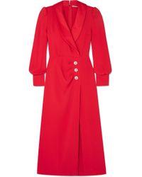Alessandra Rich - Hollywood Crystal-embellished Stretch-crepe Maxi Dress - Lyst