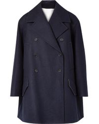 CALVIN KLEIN 205W39NYC - Double-breasted Wool-felt Coat - Lyst