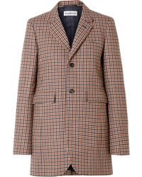 Balenciaga - Checked Wool-blend Blazer - Lyst