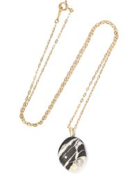 Cvc Stones | Bold 18-karat Gold, Stone And Diamond Necklace | Lyst