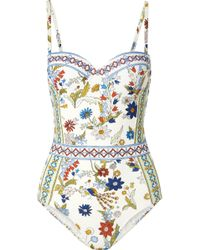 Tory Burch - Meadow Folly Printed Underwired Swimsuit - Lyst