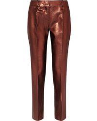 Victoria, Victoria Beckham - Pantalon Droit En Lurex - Lyst