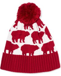 Perfect Moment - Bear Intarsia Wool-blend Beanie - Lyst