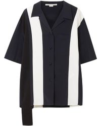 Stella McCartney | Asymmetric Striped Silk Shirt | Lyst