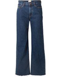 Simon Miller - W006 Toluca Cropped High-rise Wide-leg Jeans - Lyst