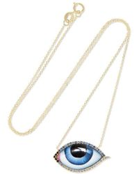Lito - Grand Bleu 14-karat Gold, Enamel, Sapphire And Diamond Necklace - Lyst