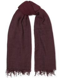 Chan Luu - Fringed Ombré Cashmere And Silk-blend Scarf - Lyst