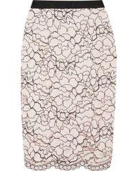 Lela Rose   Corded Lace Midi Skirt   Lyst