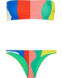 Mara Hoffman - Striped Bandeau Bikini - Lyst