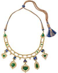 Amrapali - 18-karat Gold Multi-stone Necklace - Lyst