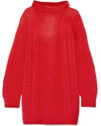 Maison Margiela - Oversized Mohair-blend Turtleneck Sweater - Lyst