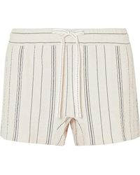 See By Chloé - Striped Cotton-blend Canvas Shorts - Lyst
