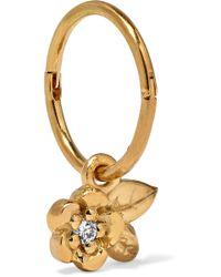Meadowlark - Alba Gold-plated Diamond Hoop Earring Gold One Size - Lyst