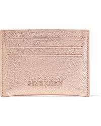 Givenchy - Pandora Metallic Textured-leather Cardholder - Lyst