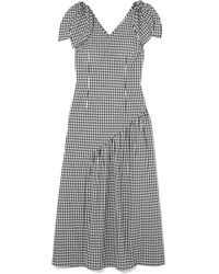 Rejina Pyo - Lily Bow-embellished Gingham Cotton Midi Dress - Lyst