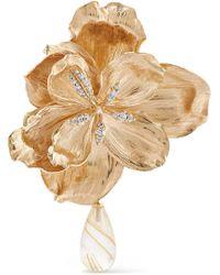 Ole Lynggaard Copenhagen - Wild Rose 18-karat Gold, Diamond And Quartz Clip Earring - Lyst