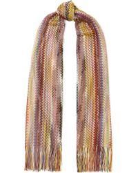 Missoni - Fringed Crochet-knit Wrap - Lyst