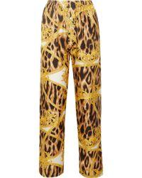 d721473b1b Versace - Printed Silk-twill Pajama Pants - Lyst