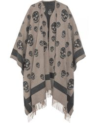 Alexander McQueen | Reversible Intarsia Wool And Cashmere-blend Cape | Lyst
