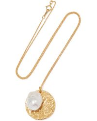 Alighieri - The Remedy Chapter Ii Gold-plated Pearl Necklace Gold One Size - Lyst