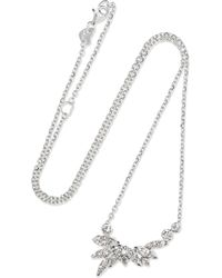 Stephen Webster - Hearts On Fire White Kites 18-karat White Gold Diamond Necklace White Gold One Size - Lyst
