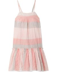 lemlem - Dera Tiered Striped Cotton-blend Gauze Mini Dress - Lyst