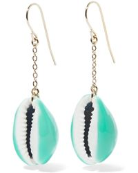 Aurelie Bidermann - Gold-plated, Shell And Enamel Earrings - Lyst