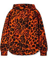 R13 - Oversized Leopard-print Cotton-jersey Hoodie - Lyst