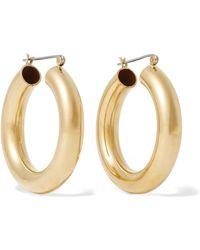 Laura Lombardi - Gold-tone Hoop Earrings - Lyst