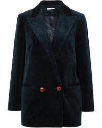 Ganni - Ridgewood Cotton-blend Corduroy Blazer - Lyst