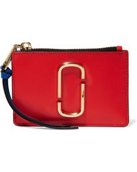 Marc Jacobs - Snapshot Color-block Textured-leather Wallet - Lyst